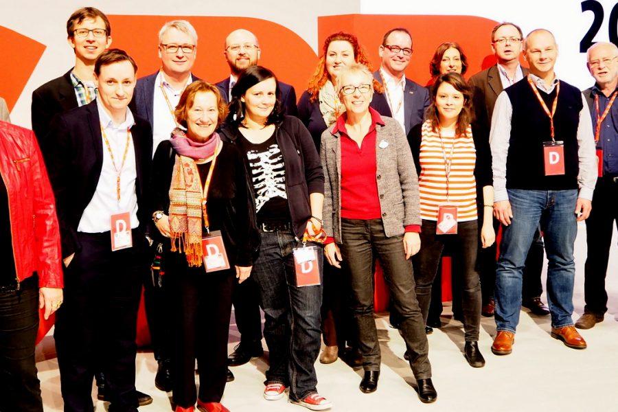 Delegierte der SPD Schleswig-Holstein auf dem Bundesparteitag