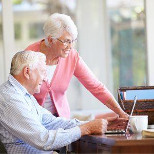 Senioren am Computer