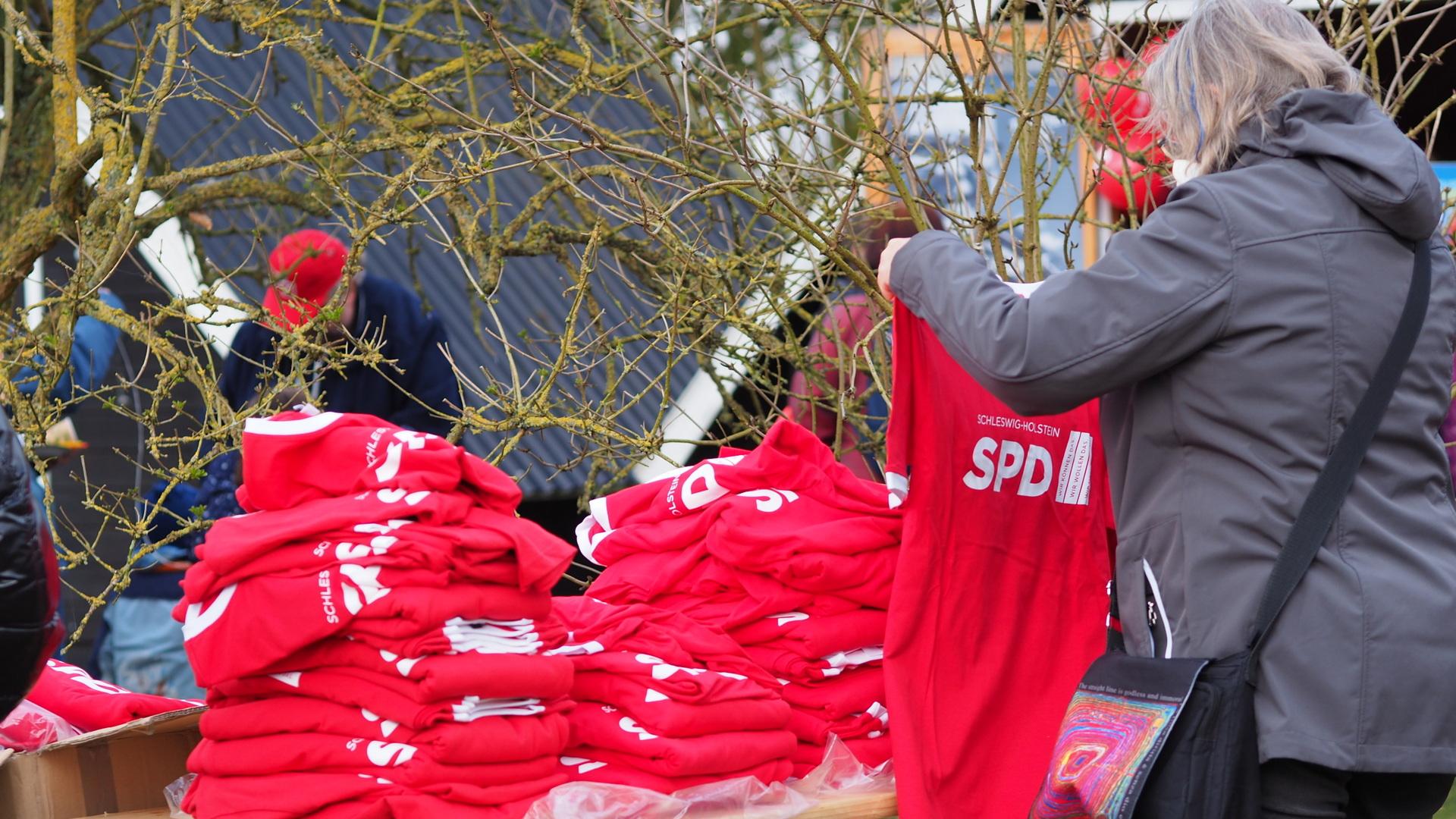 SPD T-Shirts zum Mitnehmen