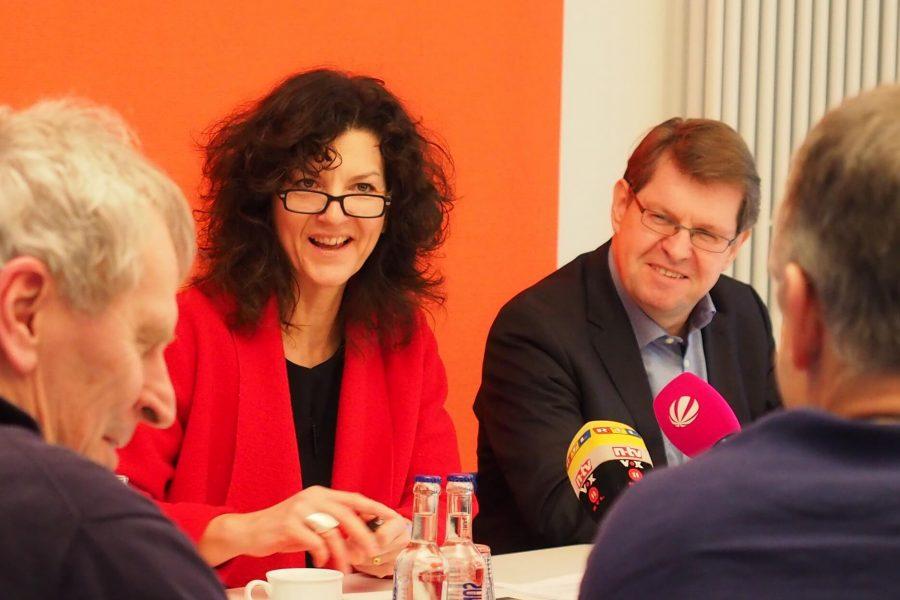 Pressekonferenz mit Christiane Küchenhof und Ralf Stegner
