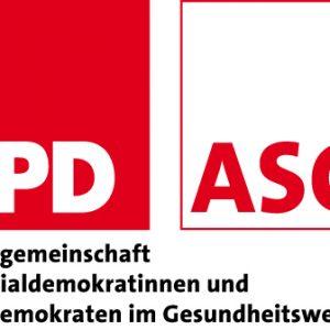 Logo der Arbeitsgemeinschaft der Sozialdemokratinnen und Sozialdemokraten im Gesundheitswesen (ASG)