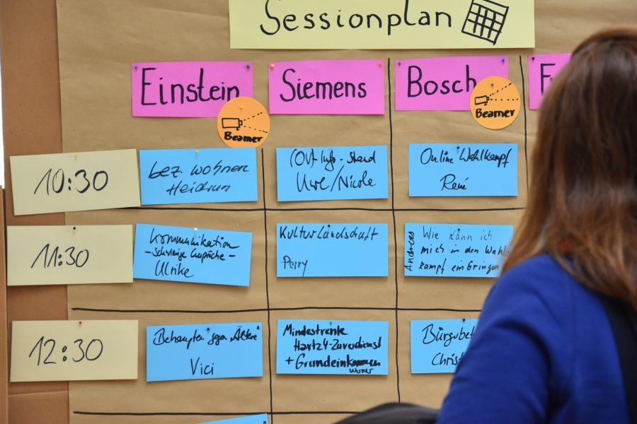 Sessionplan des SPD BarCamps 2018