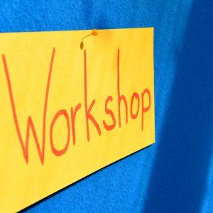 """Metaplankarte auf der """"Workshop"""" steht"""