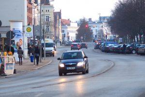 Straße in Lübeck