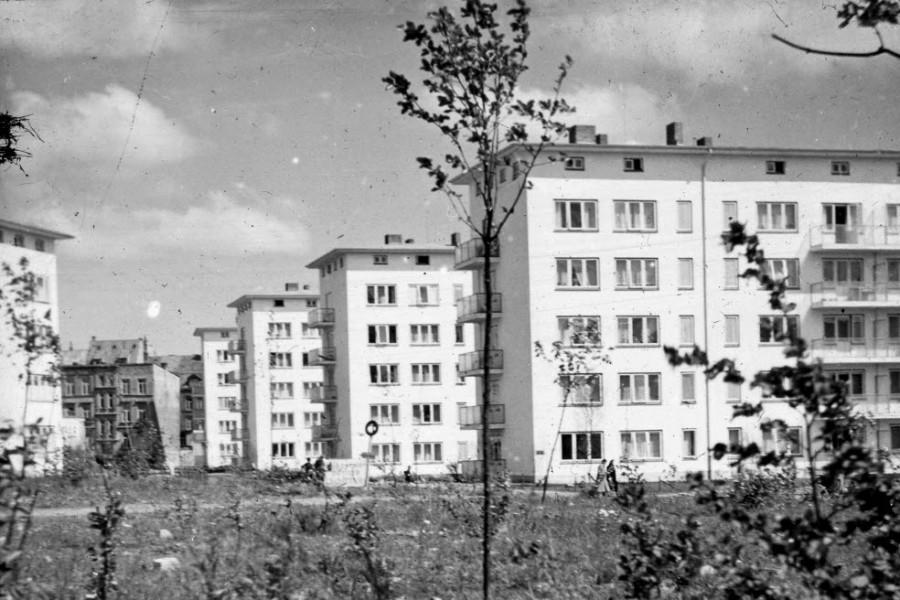 Kiel am Dreiecksplatz um 1952
