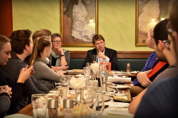 Diskussion mit Birte Pauls und Ralf Stegner aus dem Landesvorstand