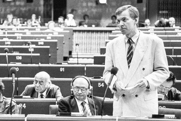 Gerd Walter im Europäischen Parlament, 1988