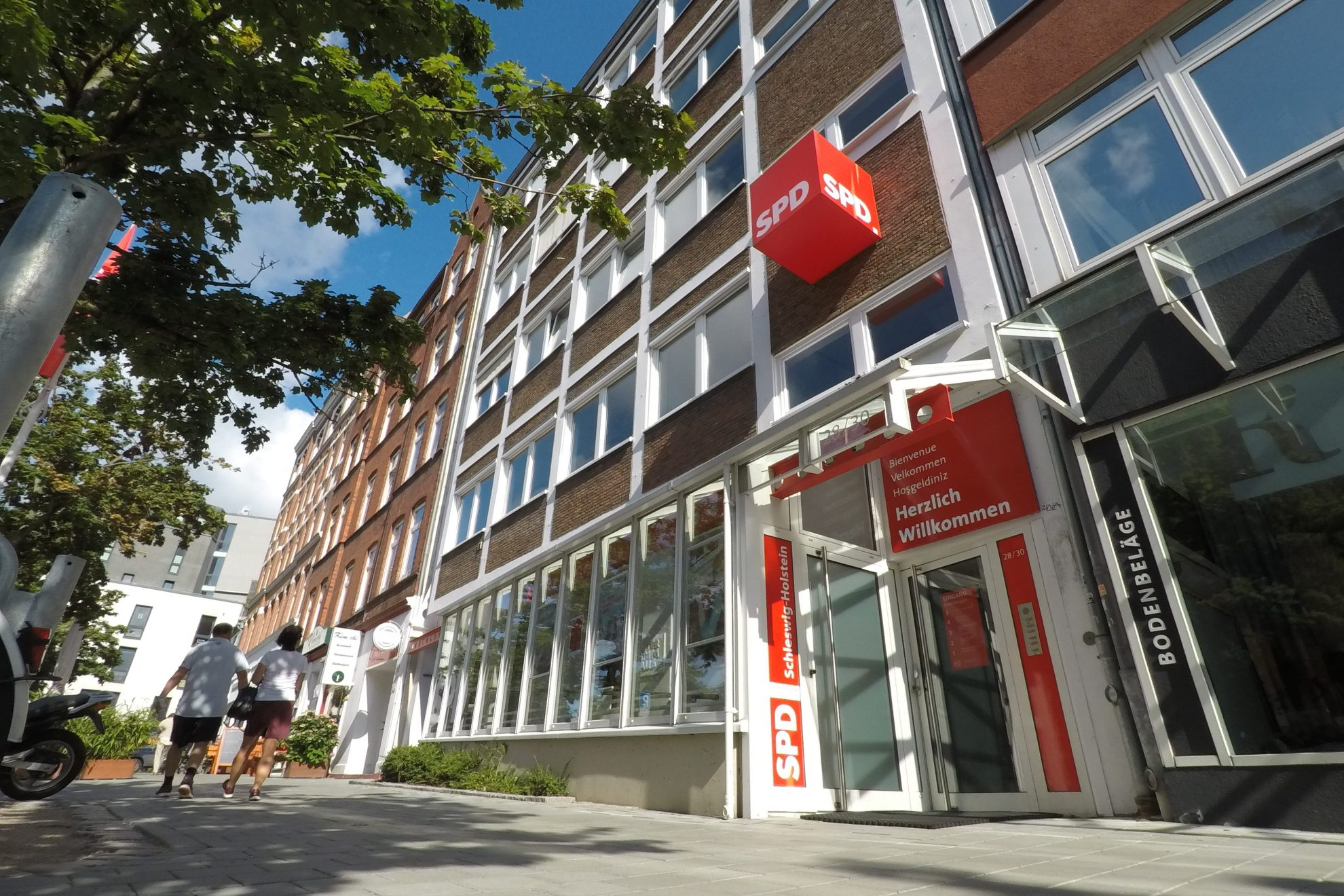 Die SPD Landesgeschäftsstelle in Kiel