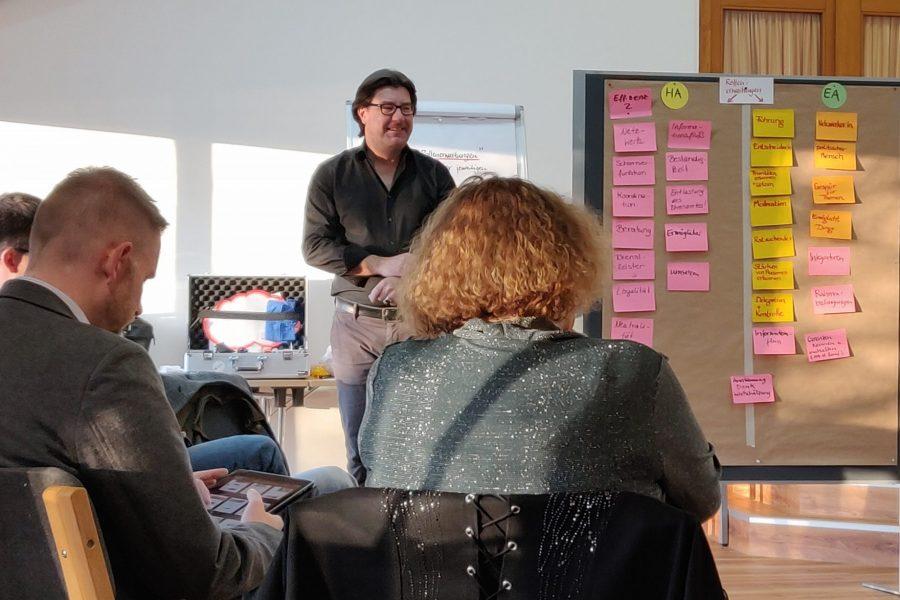 Teilnehmerinnen eines Workshops