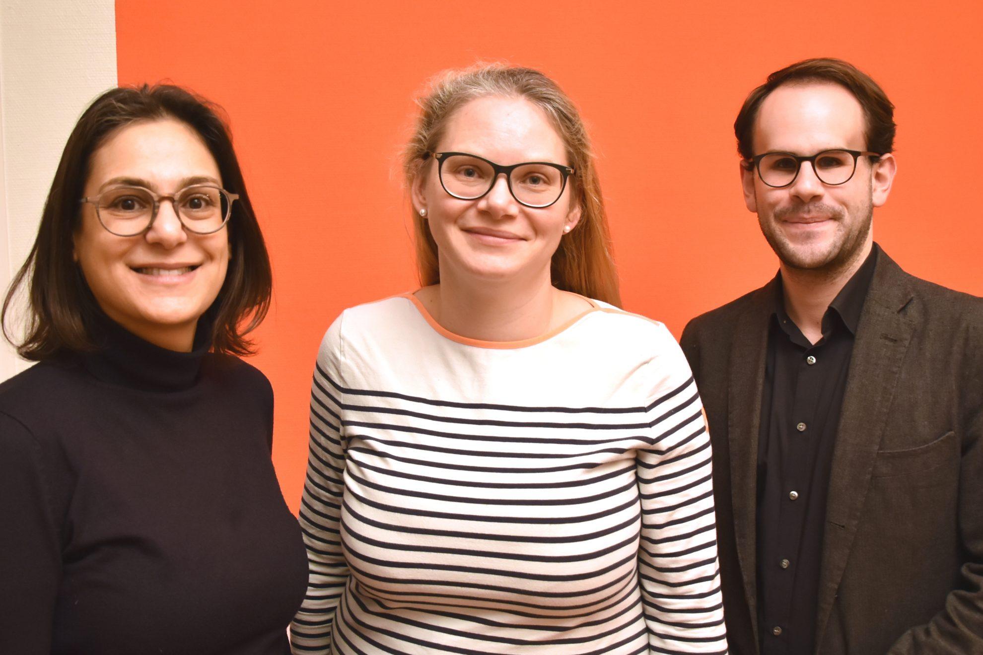 Serpil Midyatli, Ann-Kathrin Tranziska und Steffen Regis